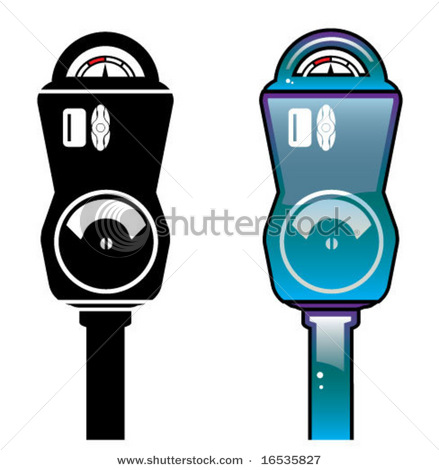 Parking Meter Icon   Vector Clip Art Illustration Picture