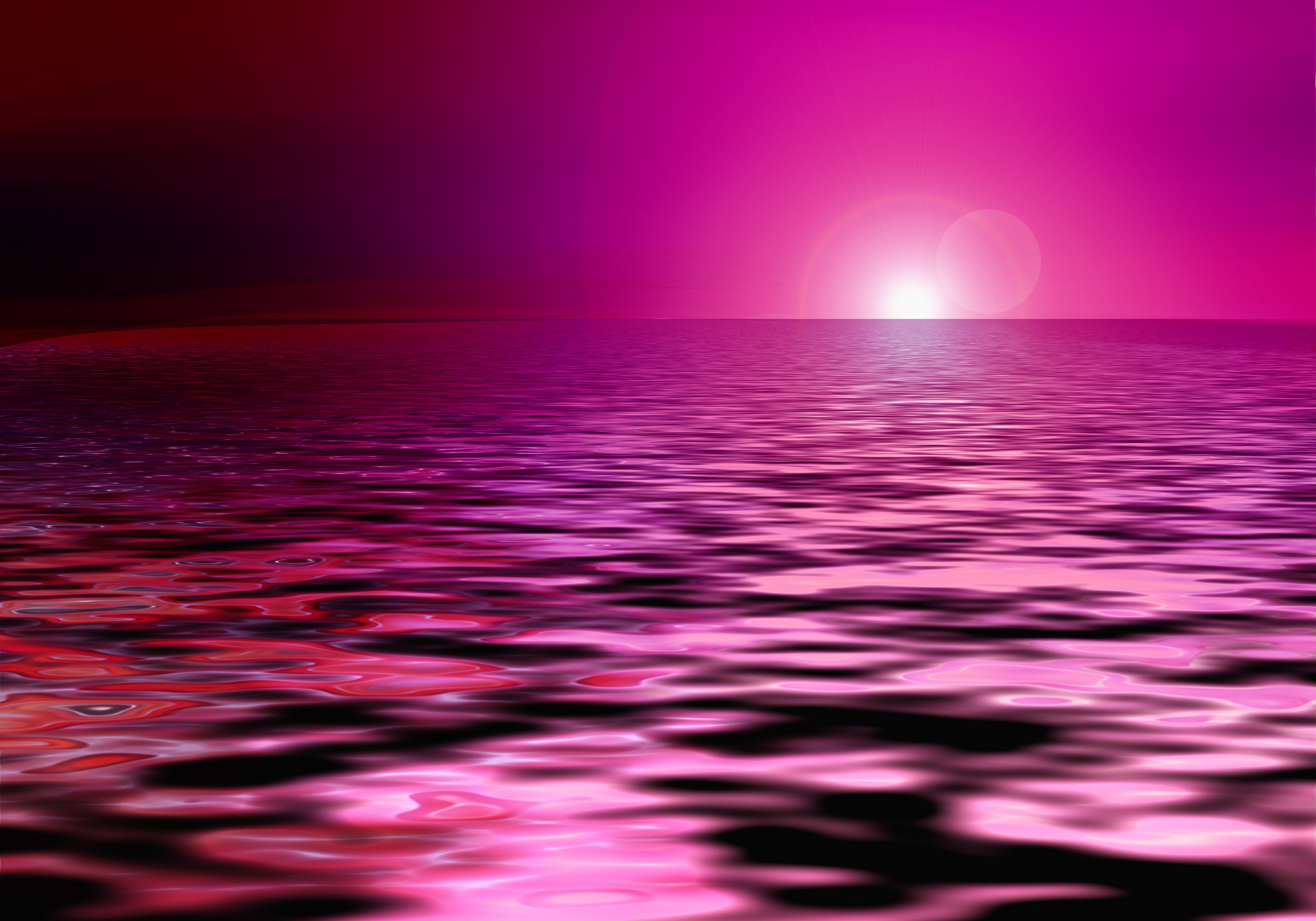 Pink Sparkling Sea Abstract Sunset Clipart