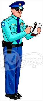 Police Officer   Parking Ticket  Clipart Illustrations Gg65229206