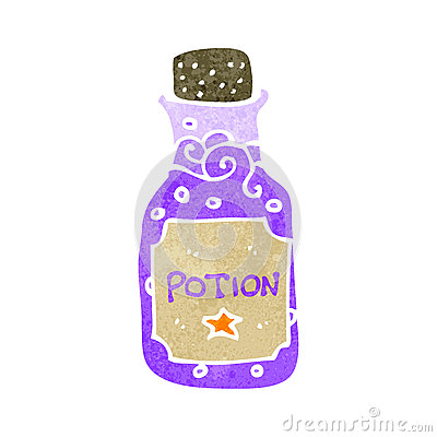 how to draw a cartoon potion