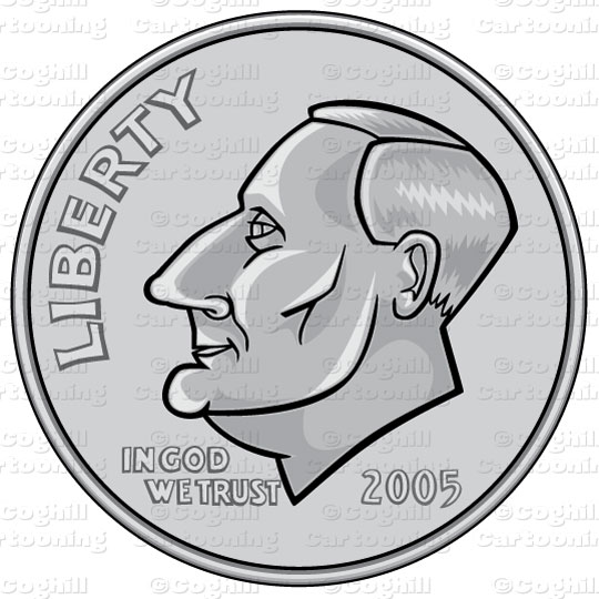 Clip Art Dime Clip Art dime clipart kid us coin stock illustration cartoon coghill cartooning