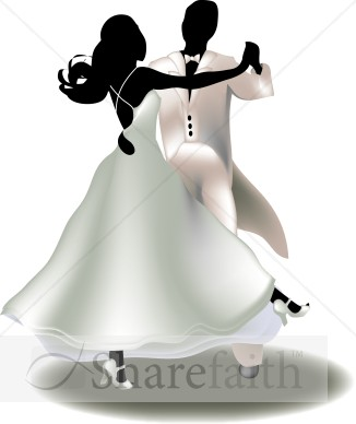 Airbrush Dancing Couple   Christian Wedding Clipart