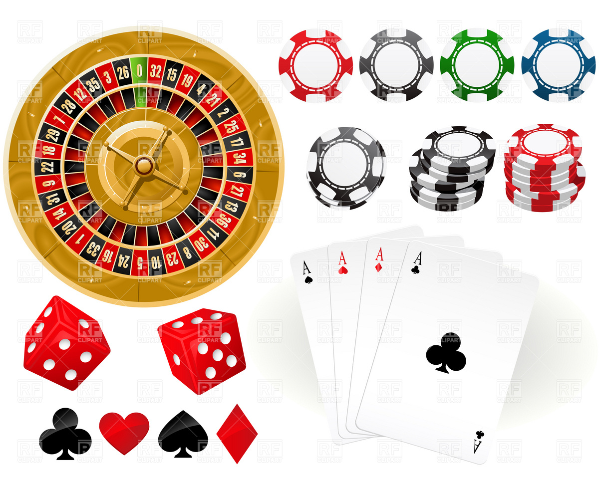 And Gambling Chips 4791 Download Royalty Free Vector Clipart  Eps