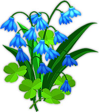 Animated Blue Flowers   Flower Clipart