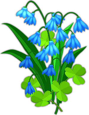 Animated Blue Flowers Flower Clipart Icon