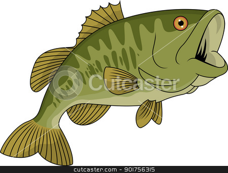Bass Fish Stock Vector Clipart Vector Illustration Of Bass Fish By