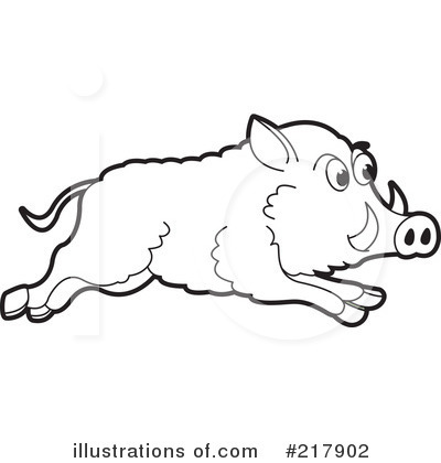 Clip Art Hog Clipart hog black and white clipart kid boar 217902 illustration by lal perera