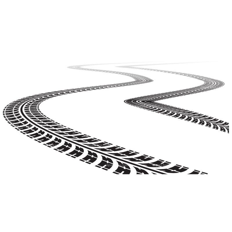 Tire Tracks Clipart Clipart Tire Tracks Royalty Free Vector Design