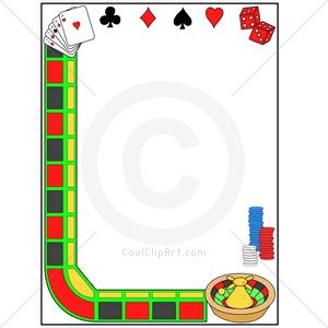 Casino clip art borders