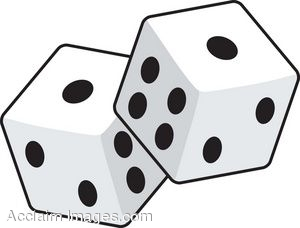 Description  Clip Art Of A Pair Of Six Sided Game Dice  Clipart