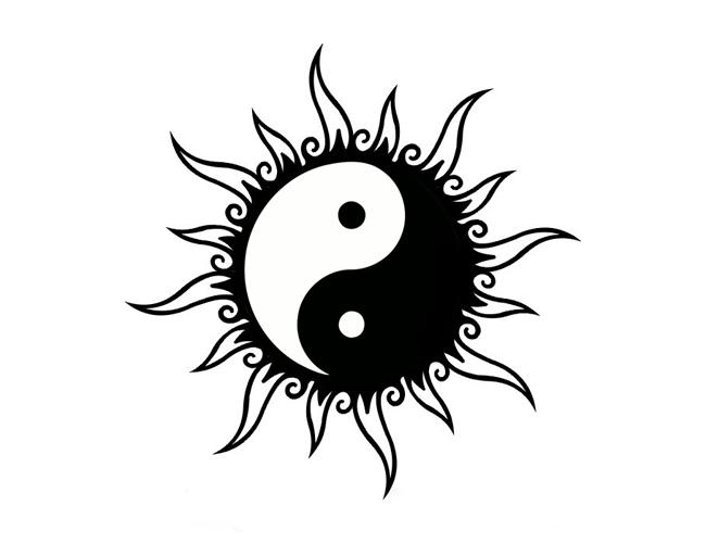 Gallery For   Yin Yang Sun Moon Tattoos