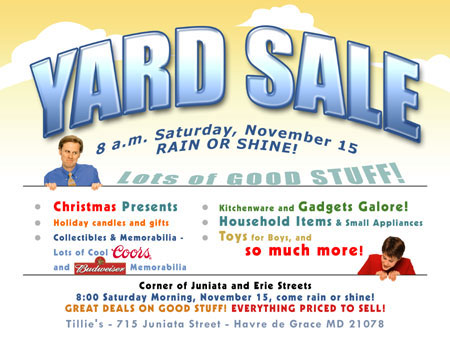 Yard Sale Flyers Clipart - Clipart Kid