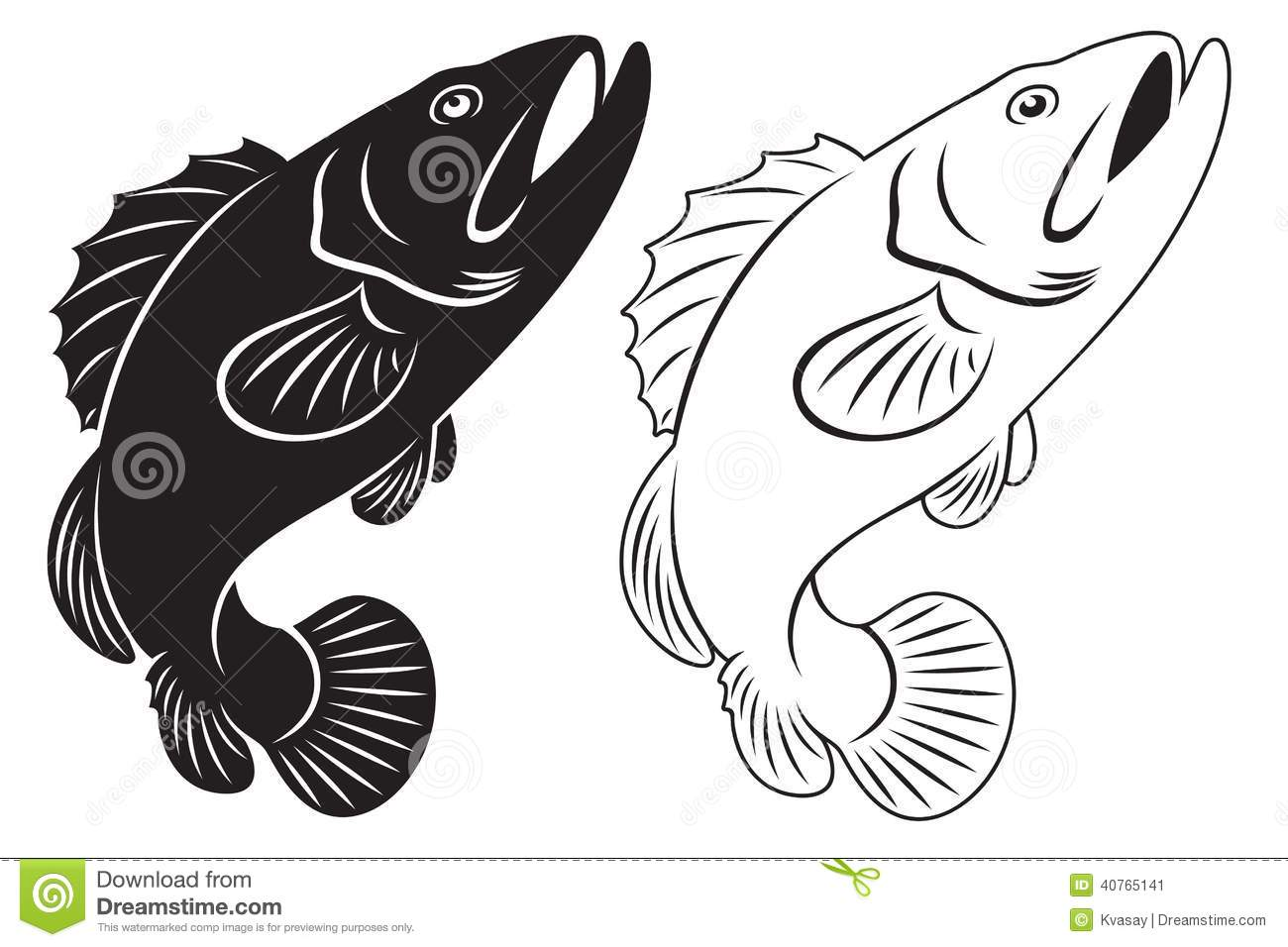 Grouper Stock Vector   Image  40765141