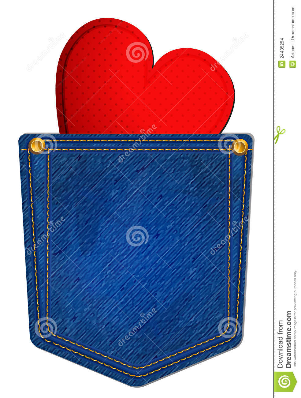 Jean Pocket Clipart Blue Jean Pocket With Heart