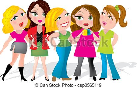 Ladies Having A Coffee Break At    Csp0565119   Search Vector Clipart