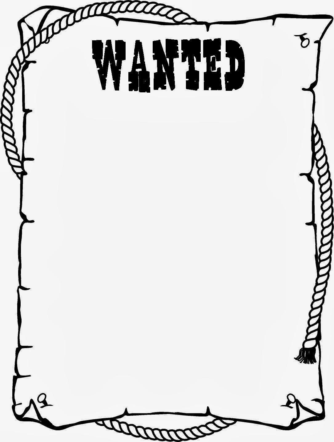 Wanted Cowboy Frame Clipart - Clipart Kid