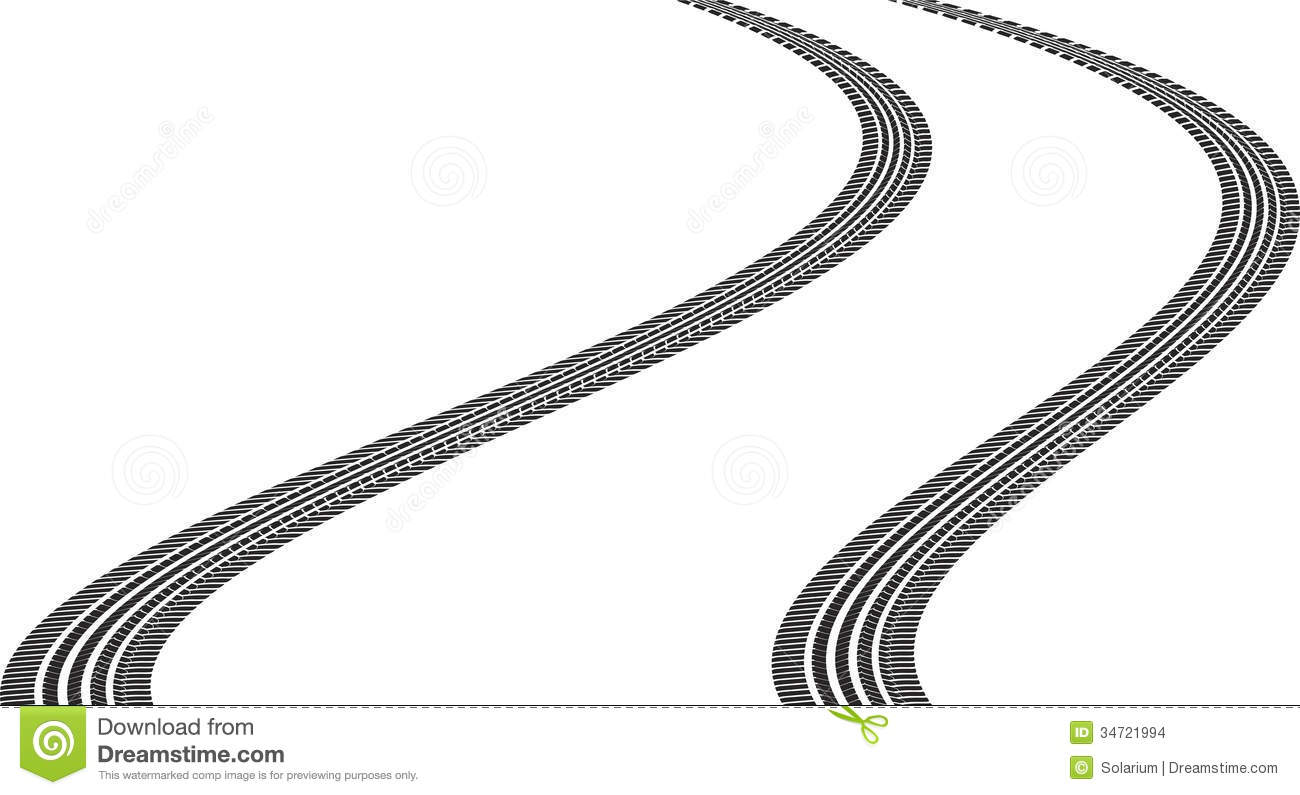 Tire Tracks Clipart Stock Images Tire Tracks