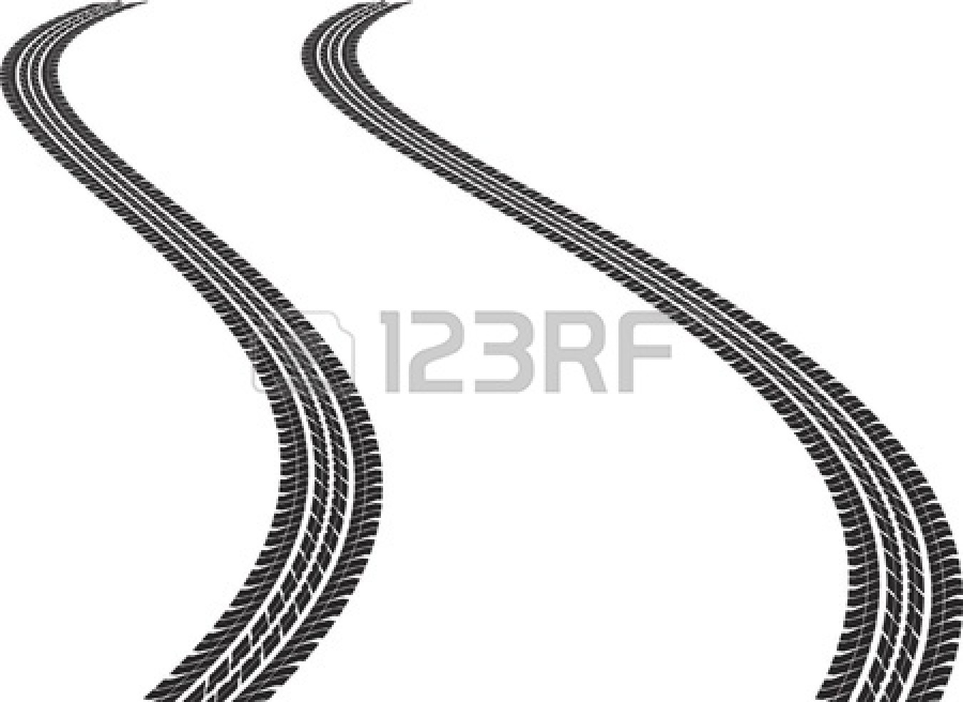Tire Wheel Clipart 13606028 Clip Art Illustration Of Tire Tracks Jpg