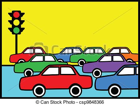 Traffic Jam Csp9848366   Search Clipart Illustration Drawings And