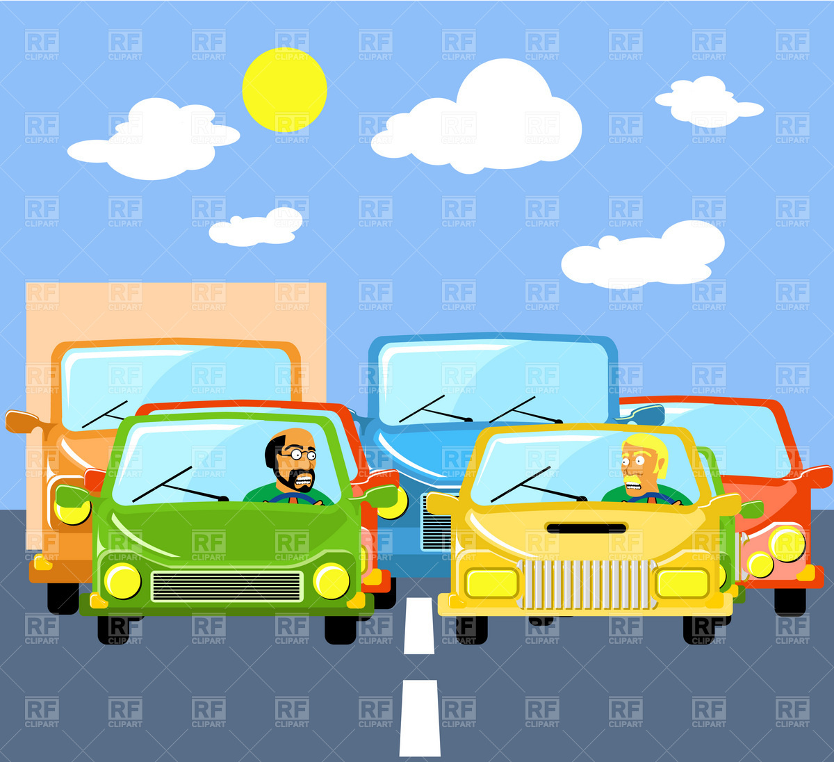 Traffic Jams Download Royalty Free Vector Clipart  Eps