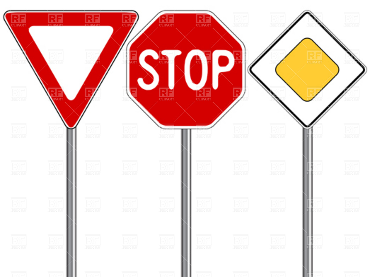 Traffic signs download royalty free vector clipart eps