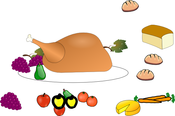 clipart thanksgiving table - photo #11