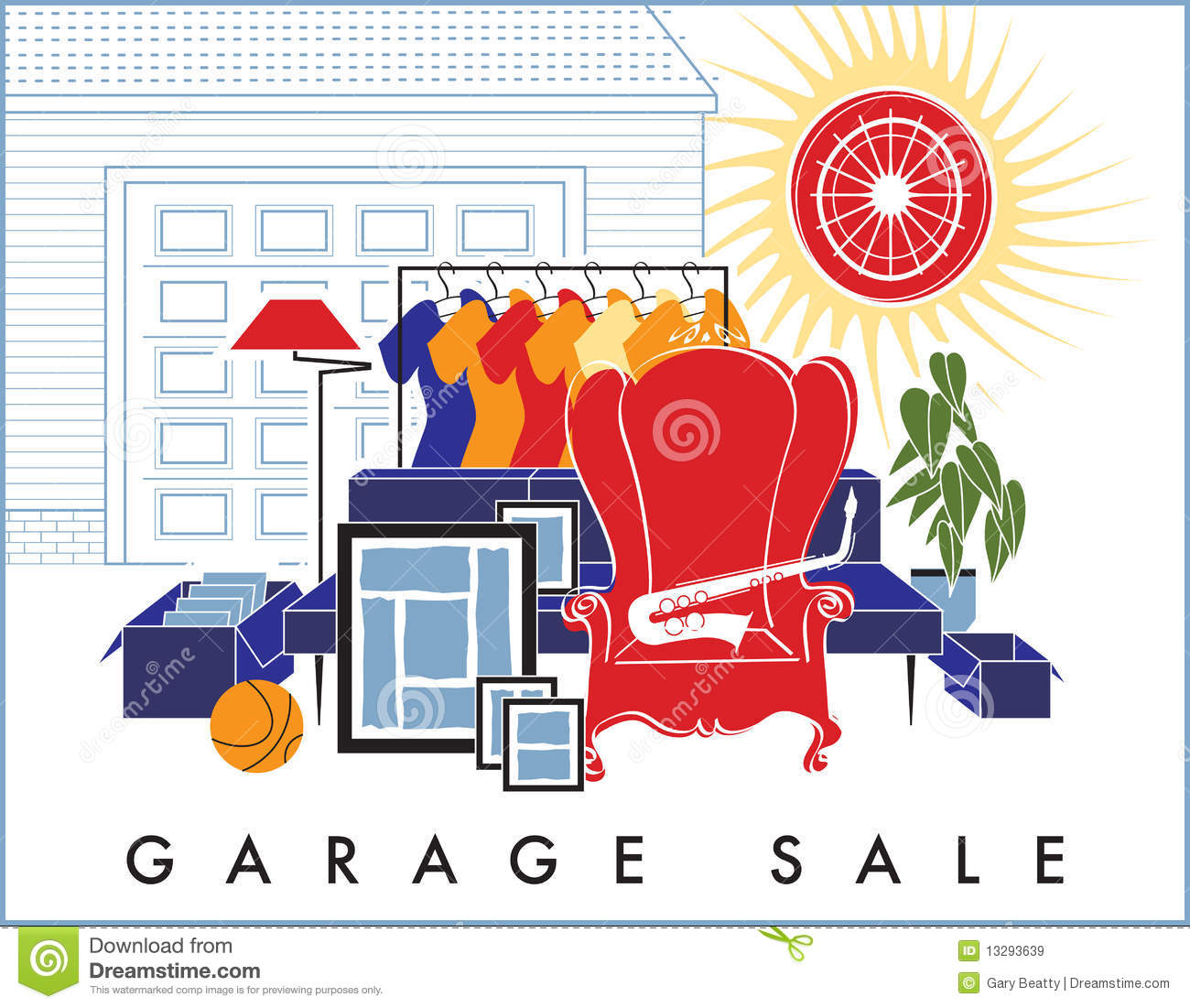 Yard Sale Clip Art Garage Sale Junk Royalty Free Stock Images Image