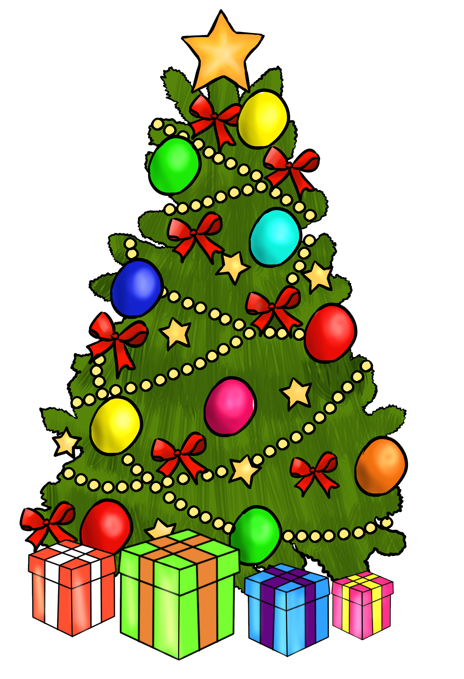 Clipart Of Christmas Presents - All About Clipart