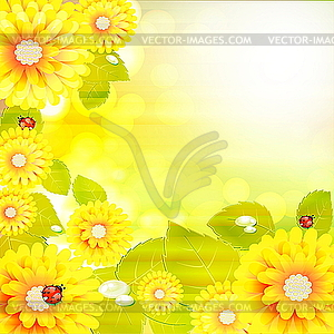 Bright Flower Background   Vector Clipart