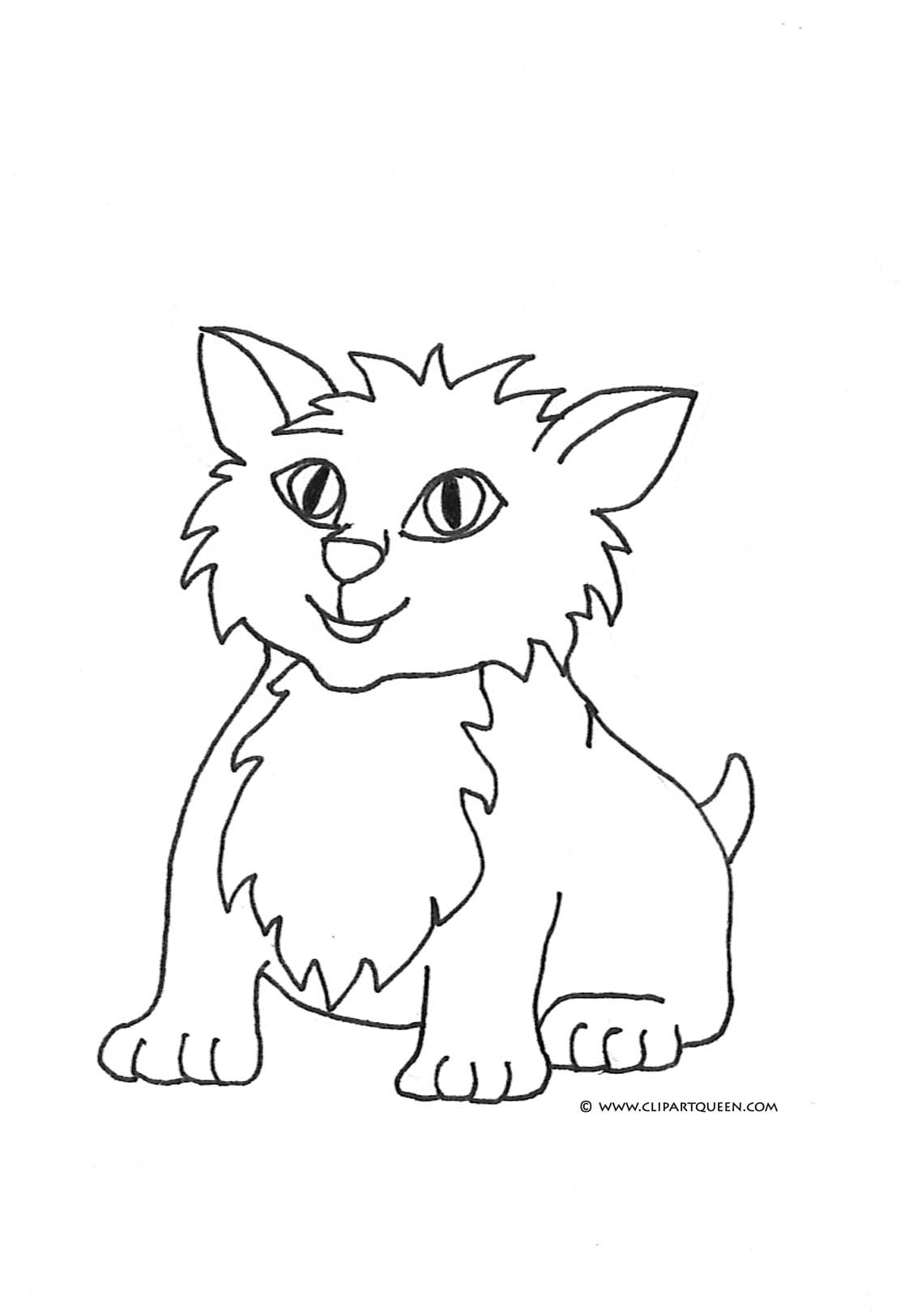 Cat Coloring Pages Small Cute Cat 2 Jpg