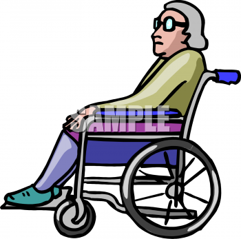 Clipart Illustrations   Graphics   Wheelchair Elderly 118116 Tnb Png