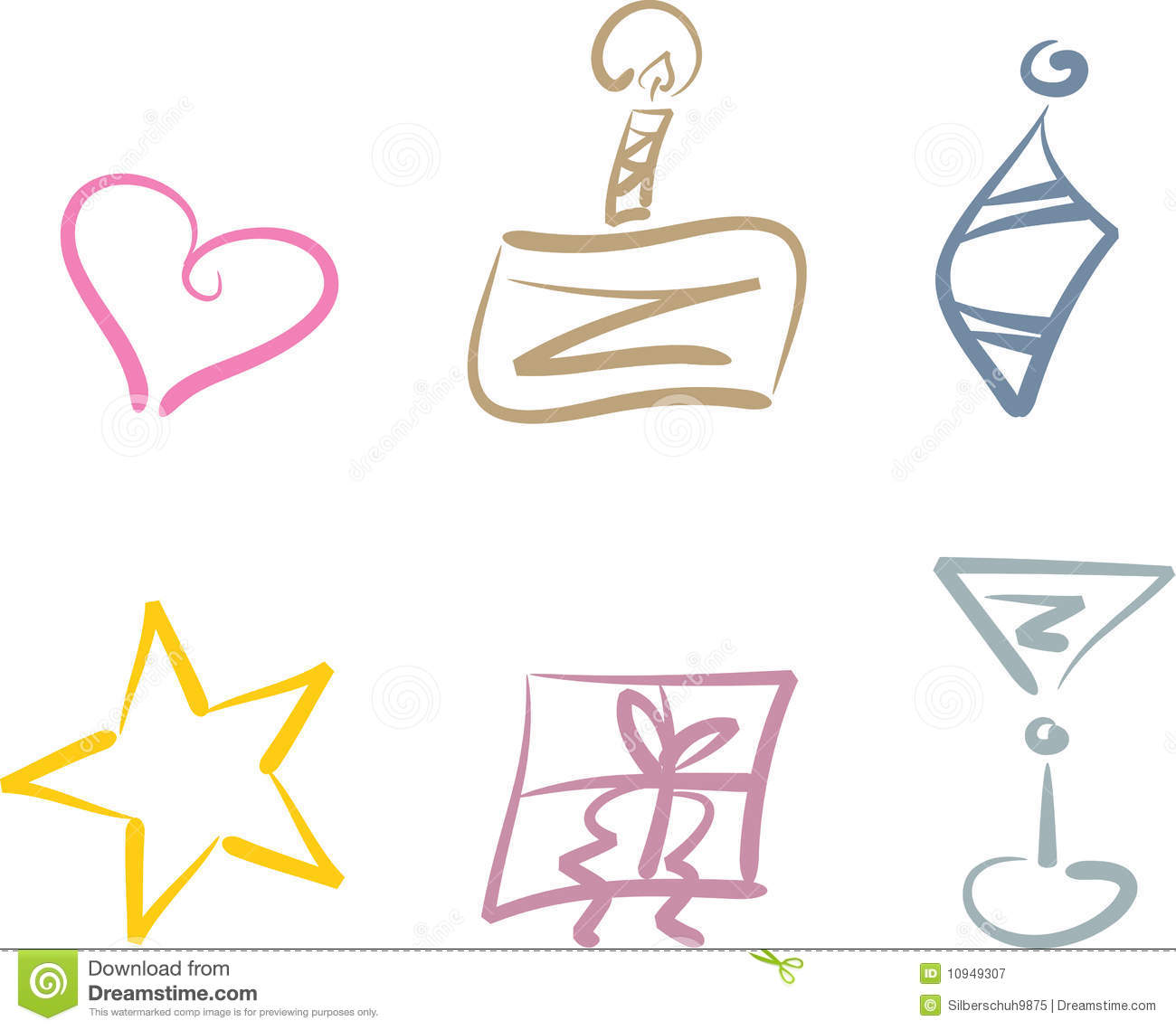 Clipart Set Suitable For Party And Holiday Purposes Including  Heart