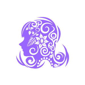 Flower Clipart   Purple Girl Is Thingking About Flowers With White