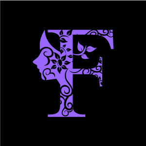 Graphic Design Of Flower Clipart   Purple Alphabet F With Black