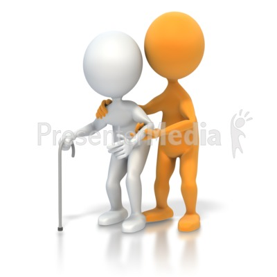 Helping An Elderly Person   Medical And Health   Great Clipart For