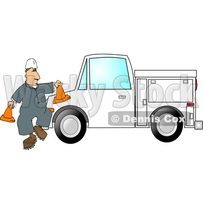 His Utility Truck Clipart Picture By Dennis Cox At Wackystock Jpg