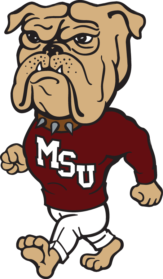 Mississippi State Bulldogs Mascot Logo  1986    Walking Bulldog