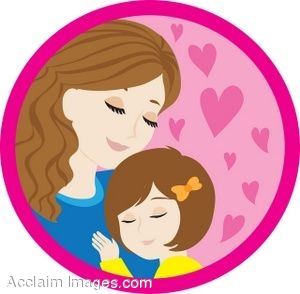 Mother And Her Daughter Clip Art