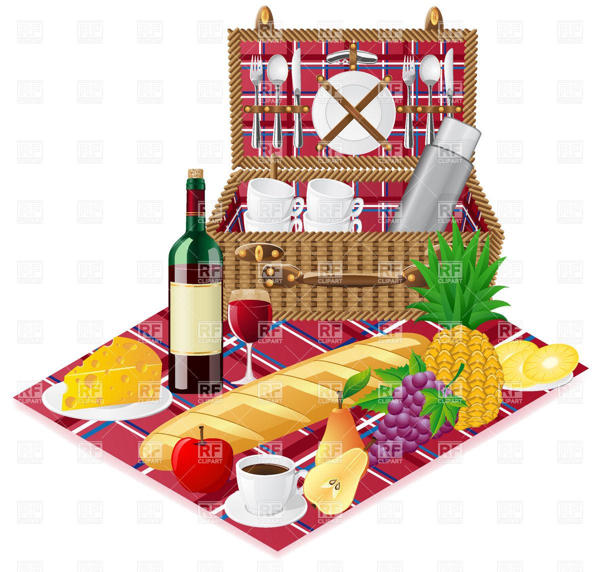 Picnic Basket Graphic : Clip art picnic basket food clipart suggest