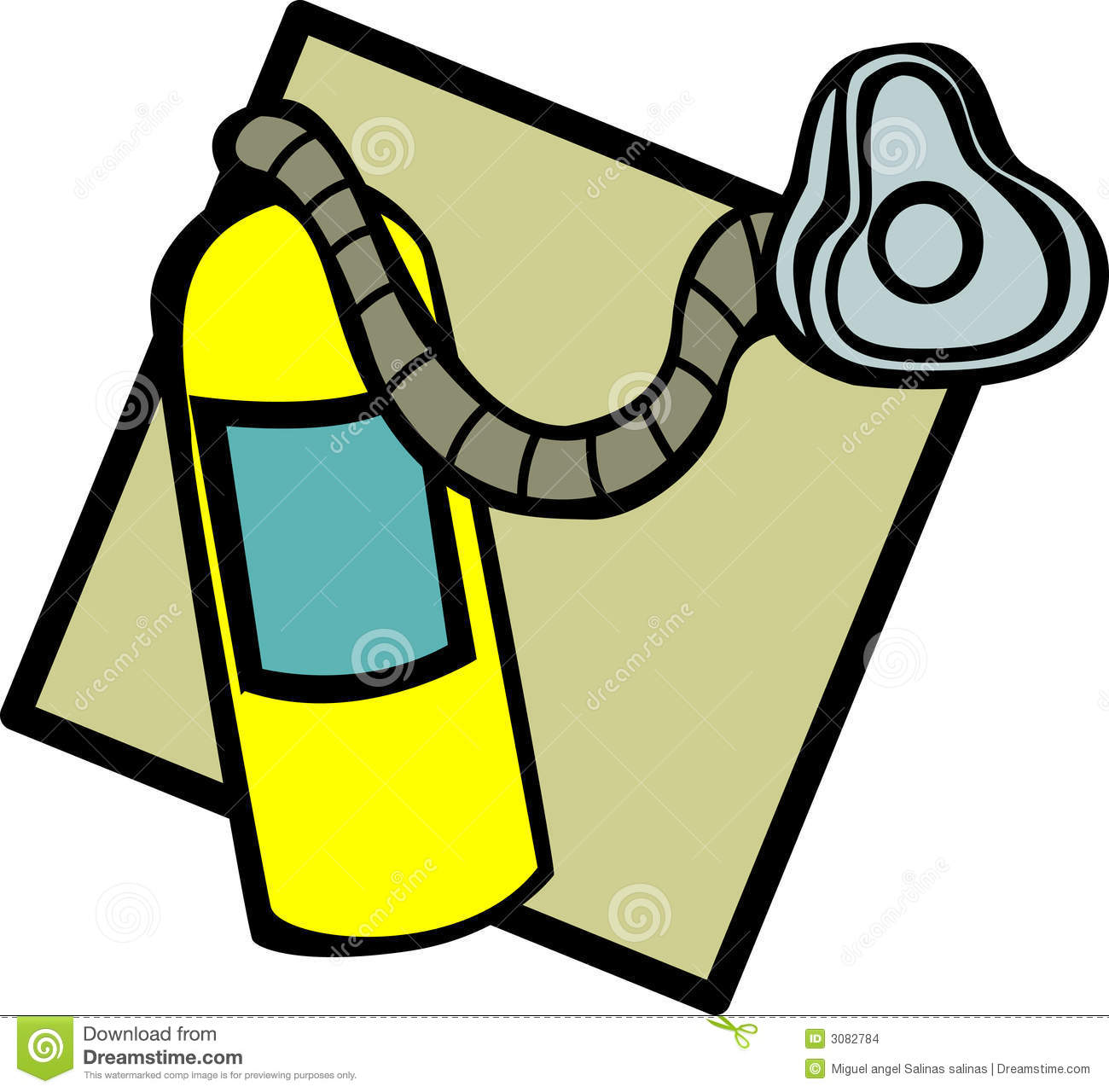 Oxygen Tank And Mask Vector Illustration Stock Images   Image  3082784