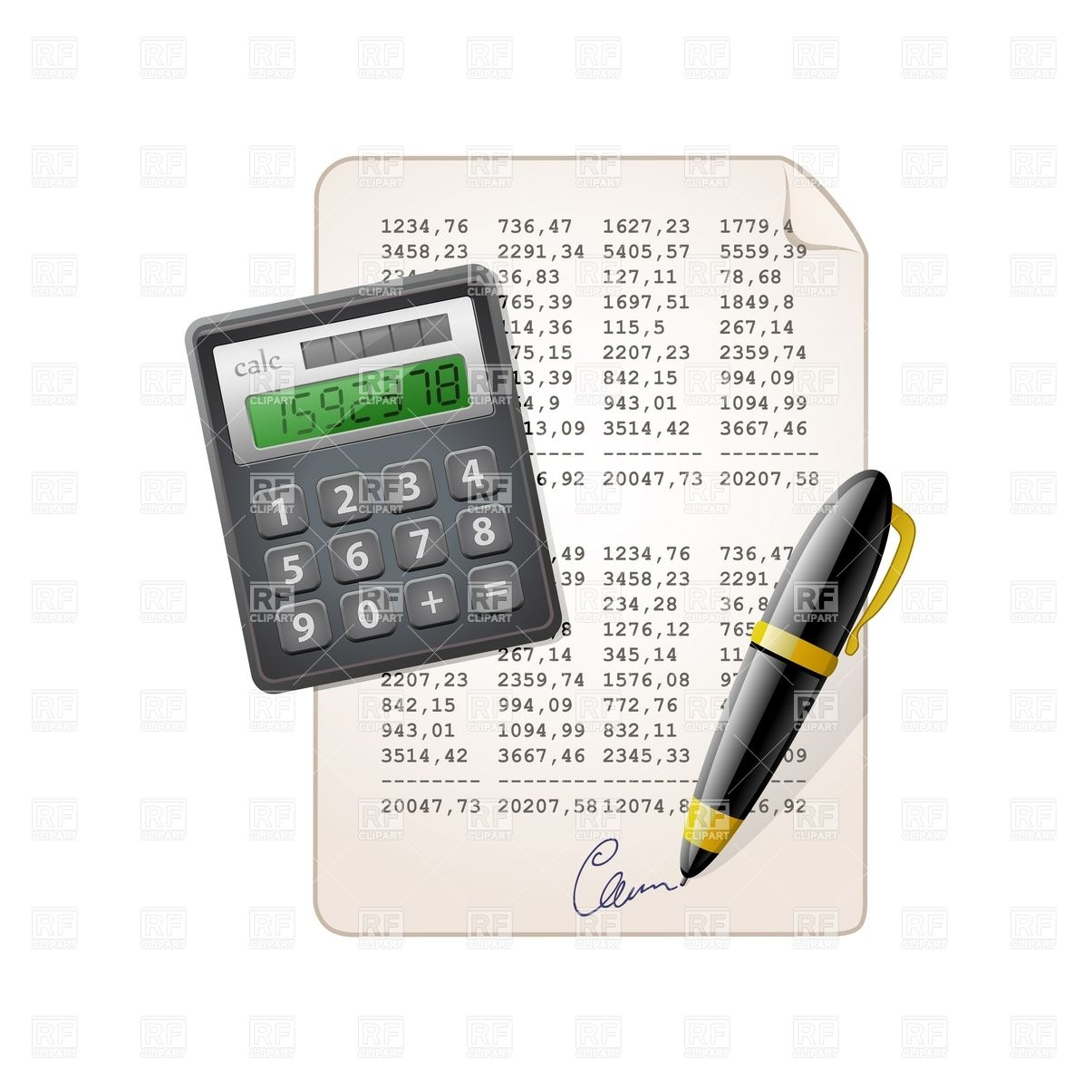 Accounting: Accounting Clipart