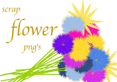 Today I Created Another Free Joyful Colored Flower Png Collection With