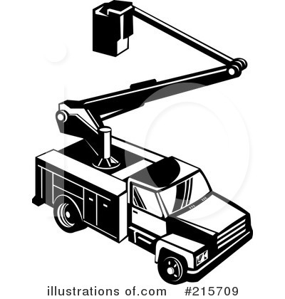 Utility Truck Clipart  215709 By Patrimonio   Royalty Free  Rf  Stock