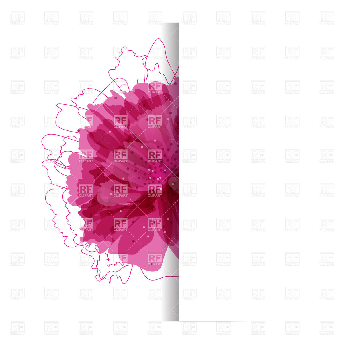 With Bright Pink Flower Download Royalty Free Vector Clipart  Eps