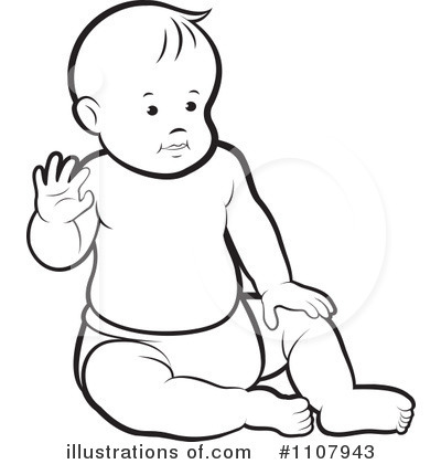 Baby Clip Art Black and White – Cliparts