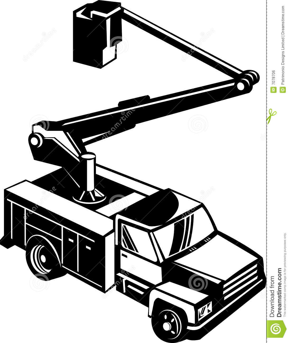 Bucket Truck Cherry Picker Royalty Free Stock Image   Image  7078706