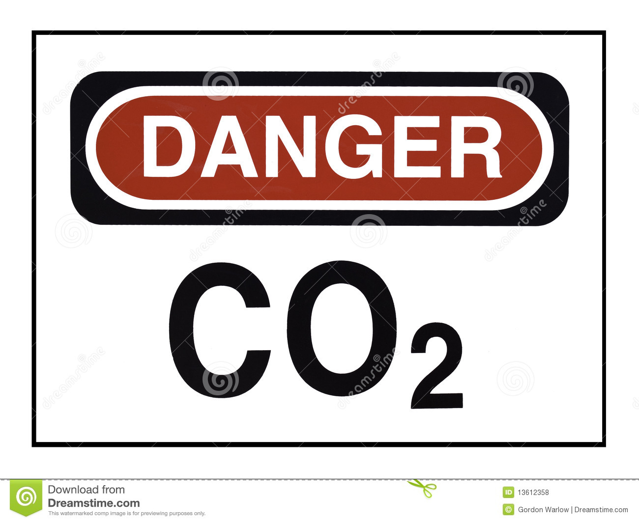 Carbon Dioxide Warning Royalty Free Stock Photos   Image  13612358