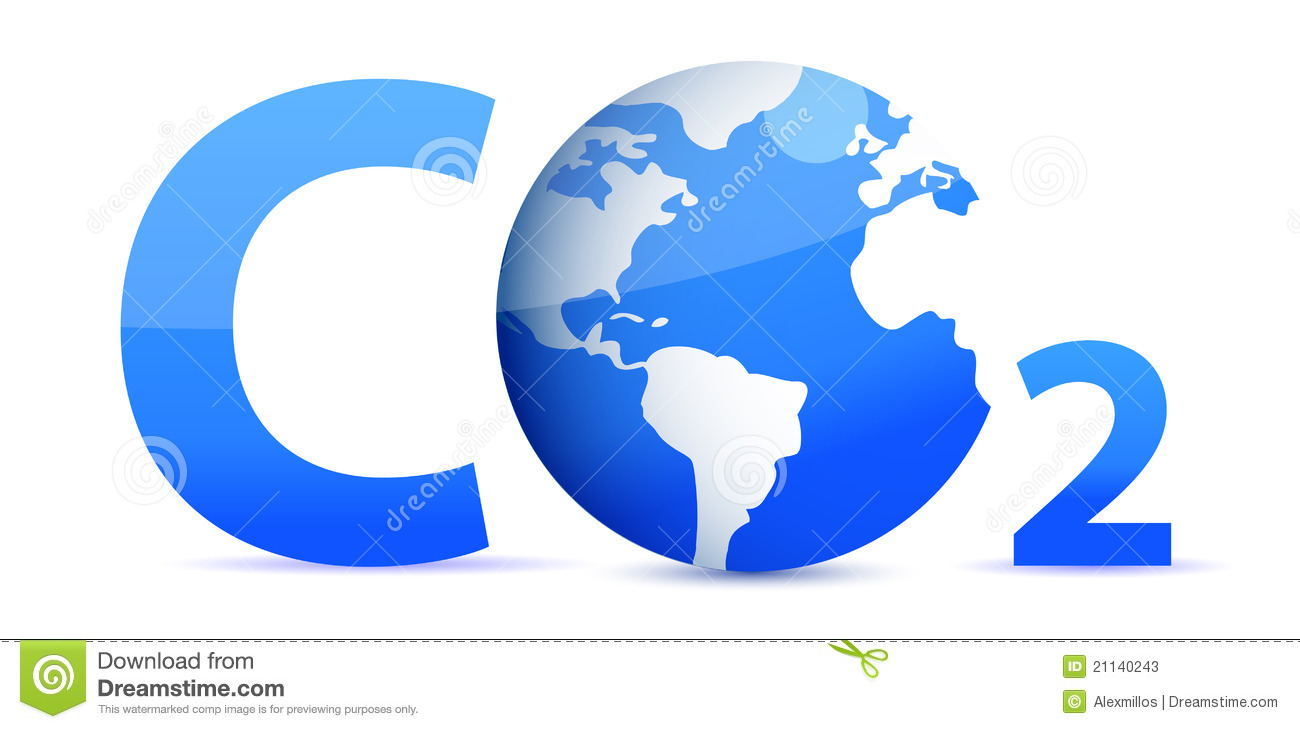 Chemical Symbol Co2 For Carbon Dioxide In Blue Stock Photos   Image