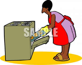 Clipart Picture Of An African American Woman Baking Cookies
