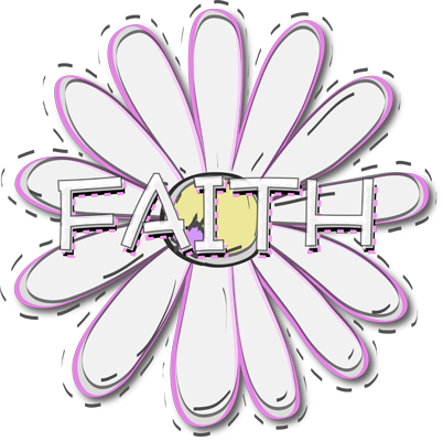 Clipart Young Women Lds Clipart Faith Flower White Lds Yw Young ...